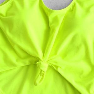 One piece neon bathing suit